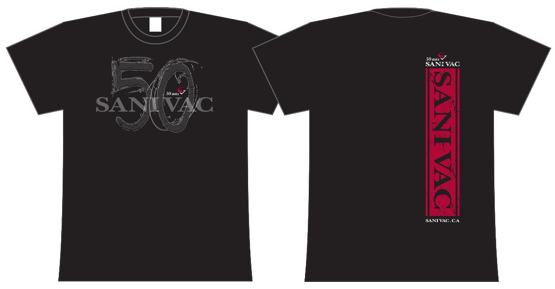 objets promotionnels - t-shirts 50 ans Sanivac